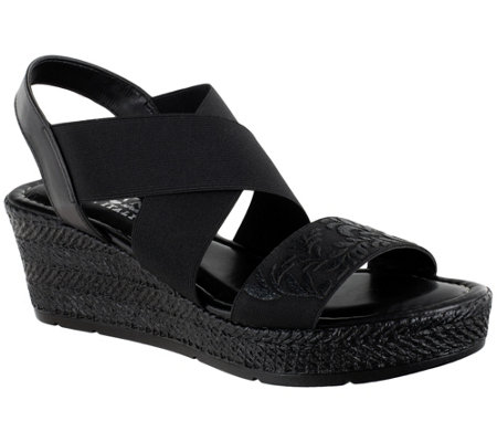 Tuscany by Easy Street Wedge Sandals - Ysabelle