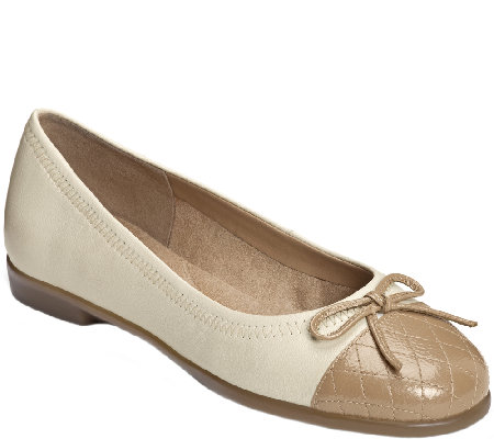 Aerosoles Leather Ballet Flats - Beckon