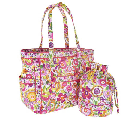 12836ba3704c Vera Bradley Signature Print Get Carried Away Tote and Ditty Bag. Back to  video. On-Air Presentation