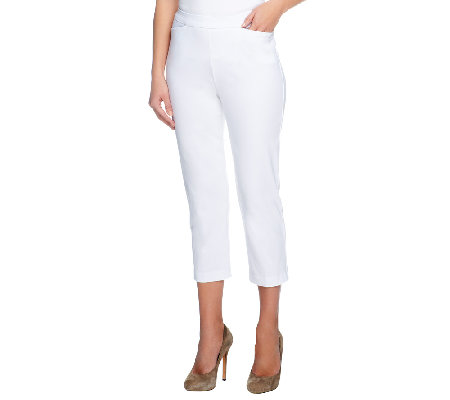 """As Is"" Susan Graver Ultra Stretch Pull-on Crop Pants with Pockets"