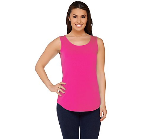 Susan Graver Essentials Cotton Modal Scoop Neck Tank
