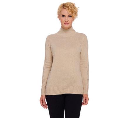 As Is Dennis Basso Long Sleeve Turtleneck Sweater