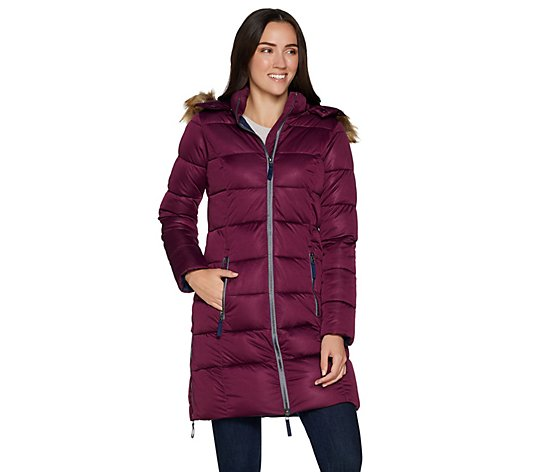 Nuage Women's Stretch Zip Front Puffer Jacket