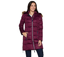 Nuage Women's Stretch Zip Front Puffer Jacket - A296127