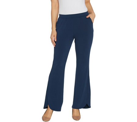 H By Halston Regular Jet Set Jersey Tulip Flare Pants
