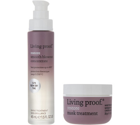 Living Proof Smooth Blowout Concentrate w/ Restore Mask