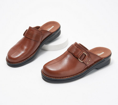 Clarks Leather Slip-On Clogs - Patty Lorene