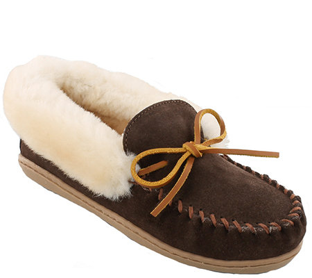 Minnetonka Leather Moccasin Slippers Alpine