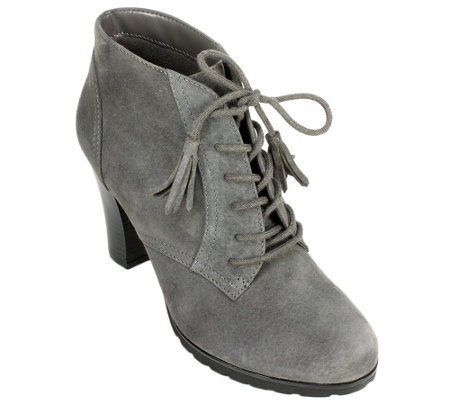 White Mountain Suede Leather Booties - Shauna