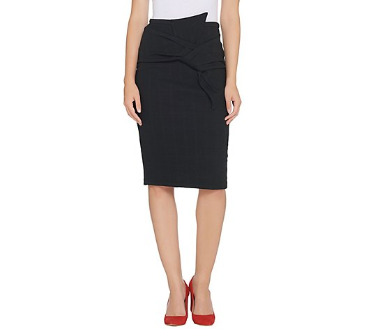 BROOKE SHIELDS Timeless Pull-On Skirt with Bow Detail