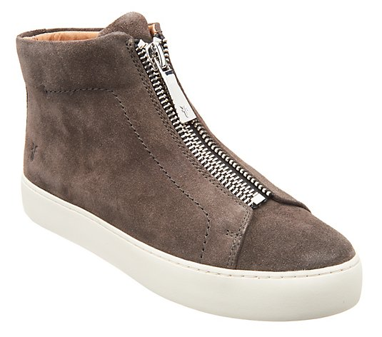 Frye Leather High Top Sneakers - Lena Zip High
