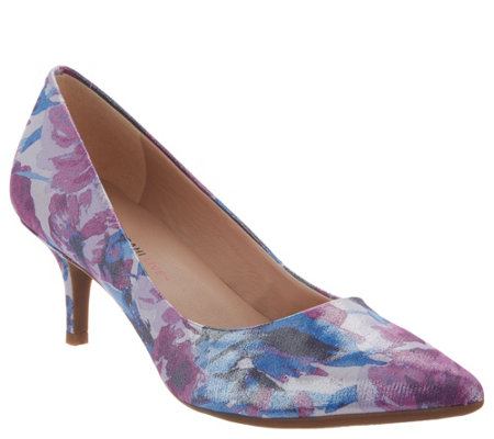 """As Is"" Isaac Mizrahi Live! Floral Printed Pumps"