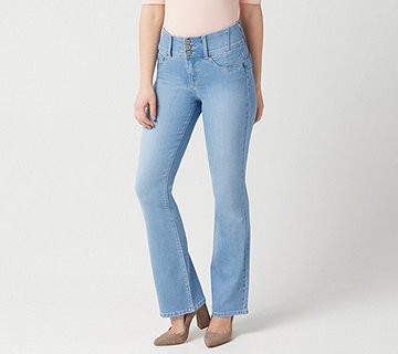 "Laurie Felt Curve Silky Denim Boot-Cut Jeans - ""Light"" - A346627"