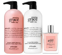 philosophy supersize grace & roses layering trio - A350527