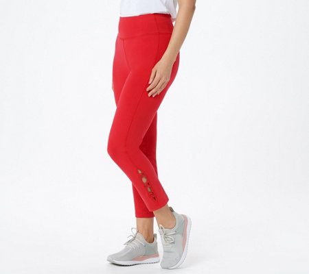 Susan Graver Weekend Regular Premium Stretch Pull On Crop Pants