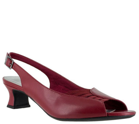 Easy Street Slingback Peep Toe Pumps - Bliss