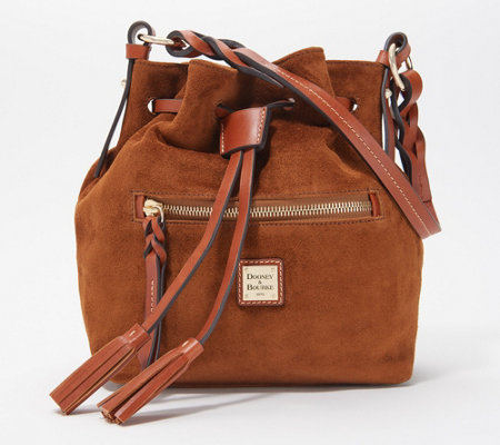 Dooney & Bourke Suede Drawstring Bag - Logan