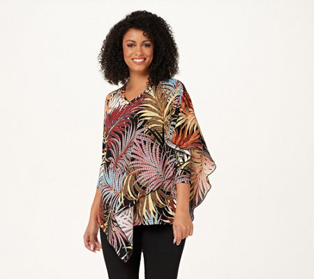 Attitudes by Renee V-Neck Layered Tunic