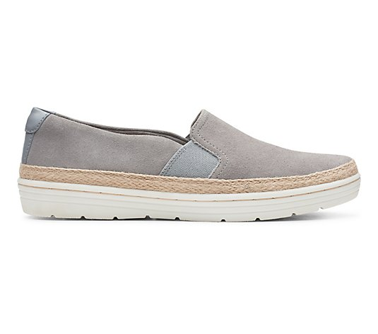 Clarks Collection Leather Slip-On Shoes - Marie Sail