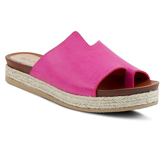 Patrizia by Spring Step Slip-On Toe-Loop Sandals - Toeloop