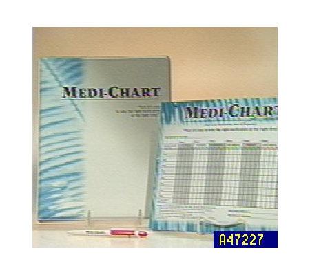 medi chart 6 month medication tracking system qvc com