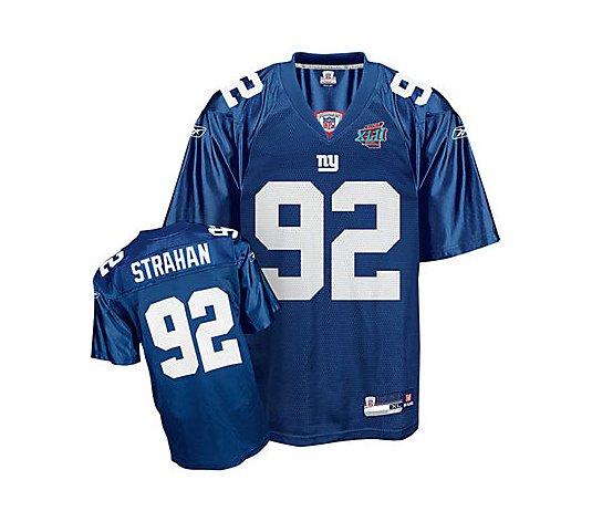 NFL Giants Michael Strahan Super Bowl XLII Replca Jersey - QVC.com