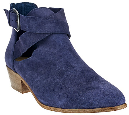 Sole Society Suede Cut-out Ankle Boots - Evie