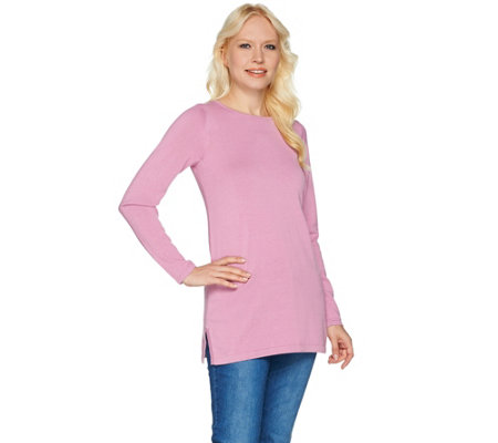 Joan Rivers Wardrobe Builders Round Neck Tunic Sweater