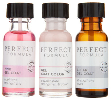 Perfect Formula Nail Treatment & Color 3-Piece Kit