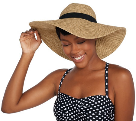 Attitudes by Renee Straw Hat with Sun Protection