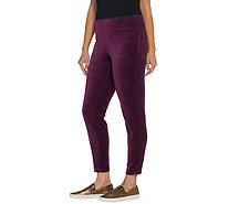 Denim & Co. Active Stretch Velour Leggings with Zipper Detail - A342728
