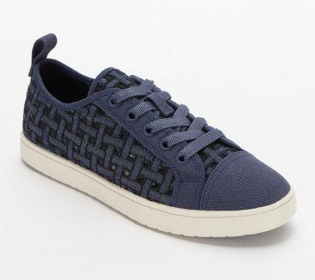 Koolaburra Woven Sneakers Kellen Low Lace Denim