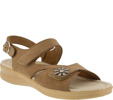 Flexus by Spring Step Asymmetrical Leather Sandals - Mukava