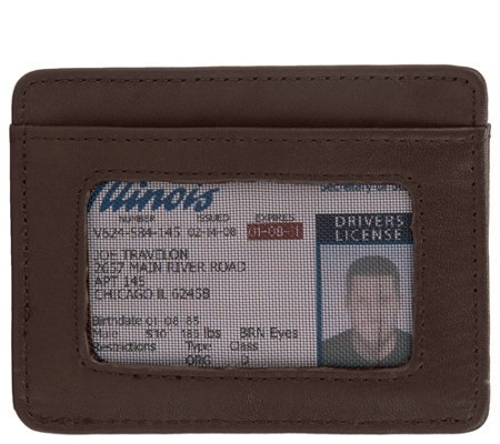 Travelon RFID Blocking Leather Cash & Card Sleeve