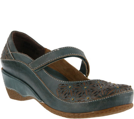 L'Artiste by Spring Step Leather Mary Janes - Finlandia