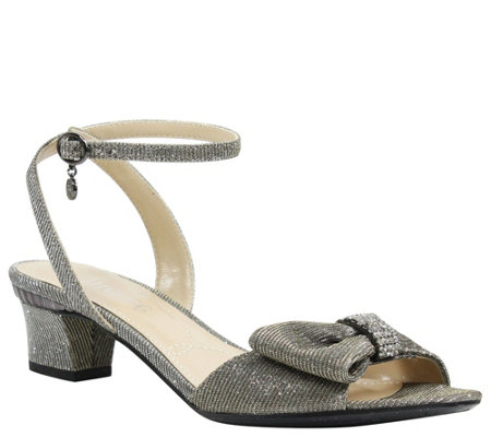 J. Renee Low Heel Ankle Strap Sandals - Davet
