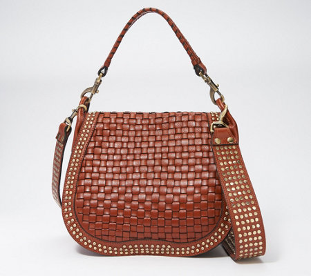 Patricia Nash Discovery Woven Saddle Bag Acerra Qvc