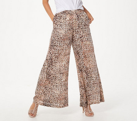 Haute Hippie Tribe 'Lillian' Striped Gauze Pull-On Pant