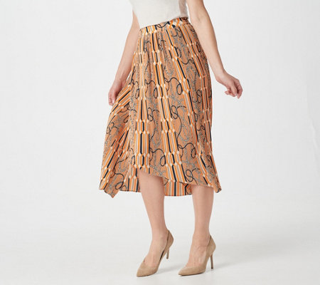 Du Jour Pleated Midi Skirt