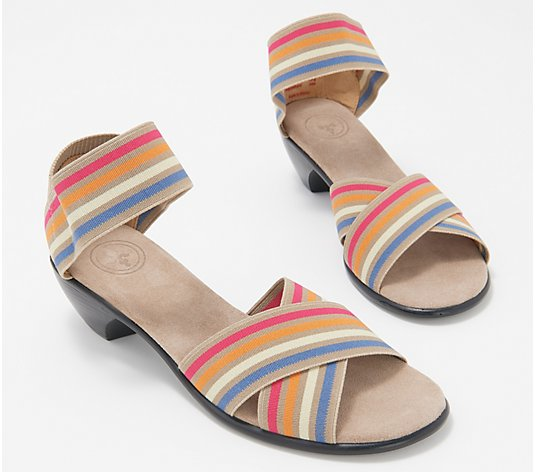 Charleston Shoe Co. Stretch Block Heeled Sandal - Lafayette
