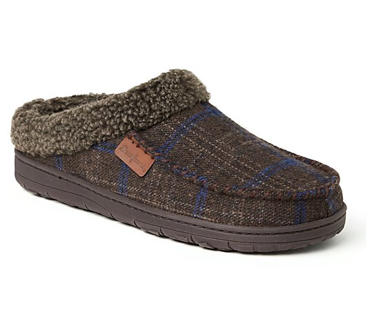 Dearfoams Men's Microfiber Suede Clogs Slippers- Brendan