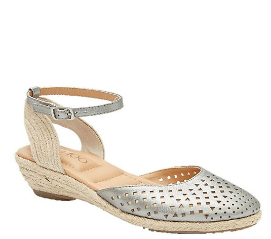 Me Too Metallic Wedge Sandals - Norina