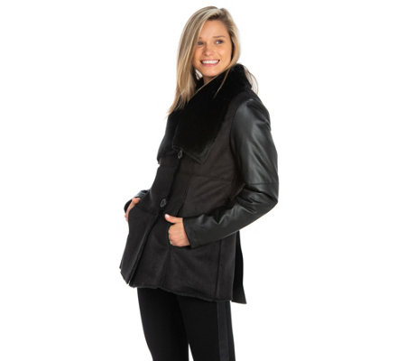 Nuage Short Faux Shearling Jacket