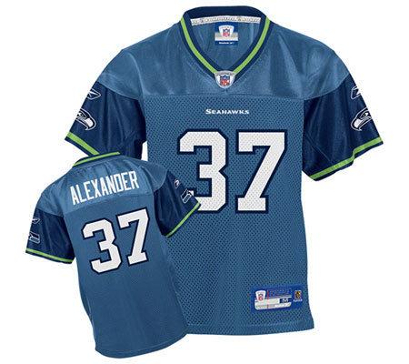 23d923a67 NFL Seattle Seahawks Shaun Alexander Kids Replica Jersey — QVC ...