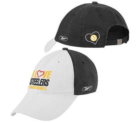 NFL Pittsburgh Steelers Women s I Love Slouch Hat — QVC.com a9f33da5b