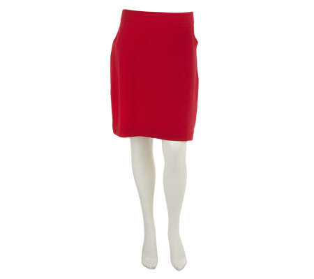 Susan Graver Weekend French Terry Pull-On Skirt with Pockets
