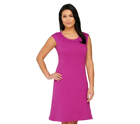 Isaac Mizrahi Live! Essentials Knit Dress w/ Seaming Detail