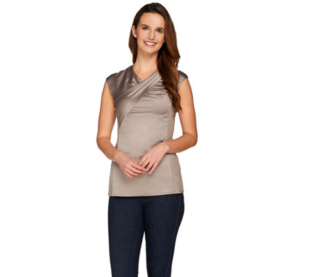G.I.L.I. Woven Top with Twist Front Detail