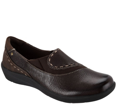 Earth Origins Leather Slip-on Shoes - Leona