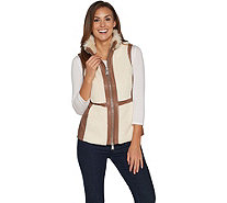 G.I.L.I. Faux Leather and Shearling Vest - A297929